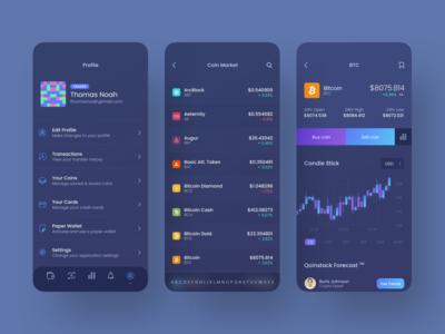 Qoinstack - Crypto Wallet Profile and Market