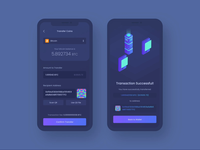 Bitcoin Transaction - Crypto Wallet Mobile App animation ios fintech finance wallet money crypto currency cryptocurrency ux uiux mobile ui dark ui dark exchange crypto exchange bitcoin wallet crypto wallet mobile app bitcoin