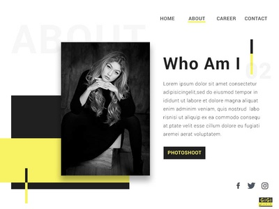 About Section model website personal portfolio ux ui minimal about