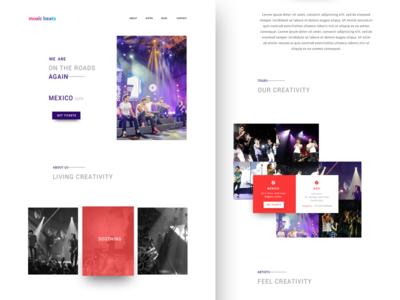 Music Band Landing Page web landing page ux ui music band music minimal clean