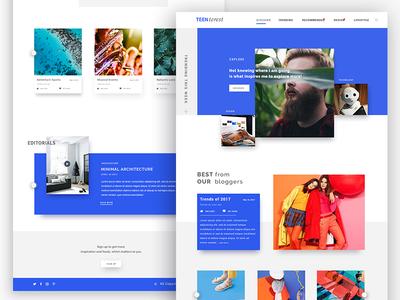 Blogs Landing Page whitespace minimal editorial card articles landing page ux webdesign ui explore blog