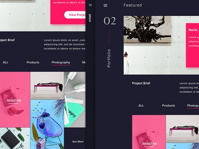 Portfolio  Exploration showcase dark web design website user interface portfolio