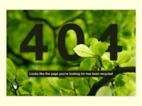 Daily UI - Day 8 - 404 Page