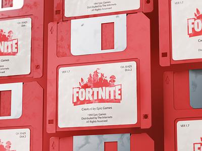 Not so modern Games - Fortnite coronarender corona red floppydisk design gaming games fortnite cgi 3d render cinema4d