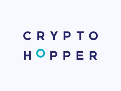 Cryptohopper logo typography branding vector logo design