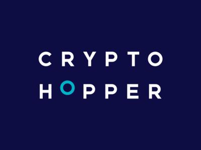 Cryptohopper logo   Dark typography branding vector design logo