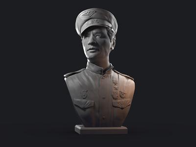 Only Old Men Are Going to Battle 3d art 3d model zbrush maestro soviet movie battle old men training bust