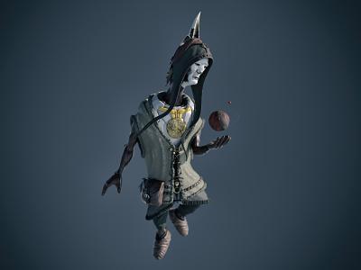 The God? 3d art zbrush concept art alien tribal planet cosmos astronaut god shaman texturing