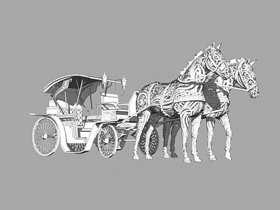 Brougham 3D Scetch design sketch 3d art concept zbrush model 3d horses brougham