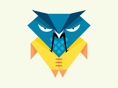 Samurai Owl geometric triangles icon adobeillustrator andrewbzh vector japan samurai owl
