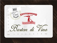 Wine club card for Cottonwood Restaurant & Bar