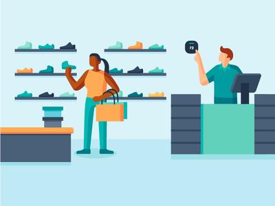Smartbuildings Illustrations - Retail