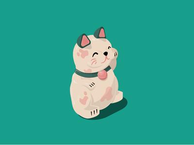 ecobee Black Friday Illustration - Lucky Cat