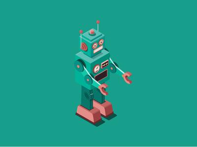 ecobee Black Friday Illustration - Robot