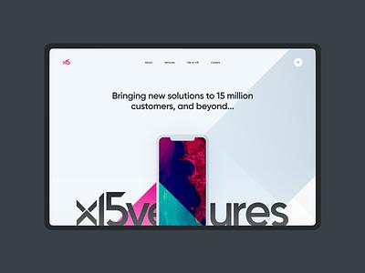 x15ventures - Hero Panel hero technology responsive startup ui