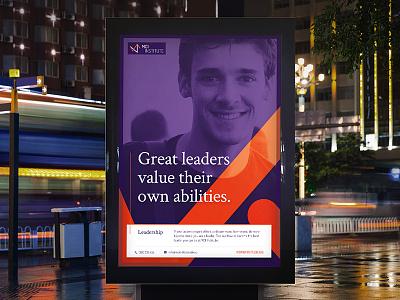 MCI Institute - Branding WIP poster statement education overlap rounded branding purple orange institute
