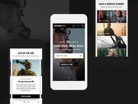Defence Jobs - Responsive Screens mobile search components design system responsive ui military education defence
