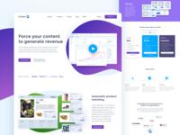 Comin: force your content to generate revenue mainpage landing design web uiux monetization monetize content ecommerce widget comin