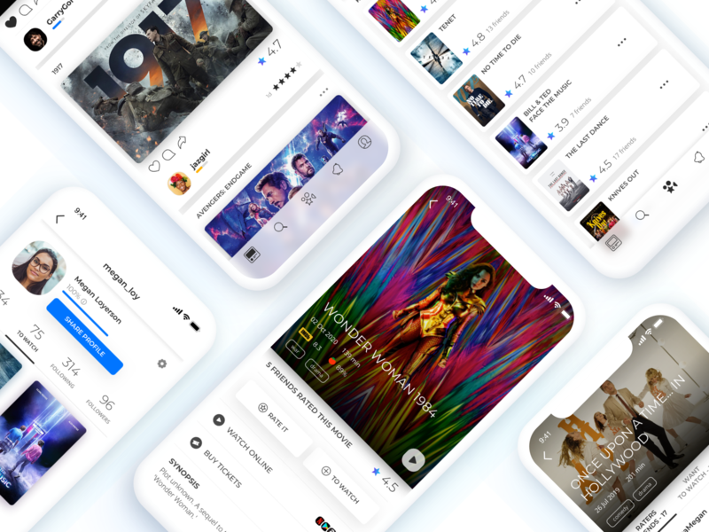 """Raters answers the question """"What Film Should I Watch?"""" android app design android app android ios app design ios app ios uxdesign ux ui design uidesign ui  ux ui uiux mobile mobile app application app movie app movie"""