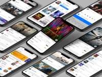 Raters App for iOS and Androin platforms uxdesign uxui ui ui design ui  ux uidesign mobile ui mobile app design mobile apps application app design mobile app app design web uiux