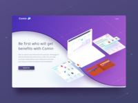Comin System landing page