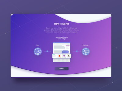 Comin System landing page - How Comin works merchants affiliates ecommerce impleum blockchain how it works uiux design uiuxdesign uiux landing page landing system comin