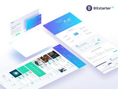 Bitstarter WordPress theme wordpress blog trade cryptocurrency ico design web uiux theme wordpress wp bitstarter