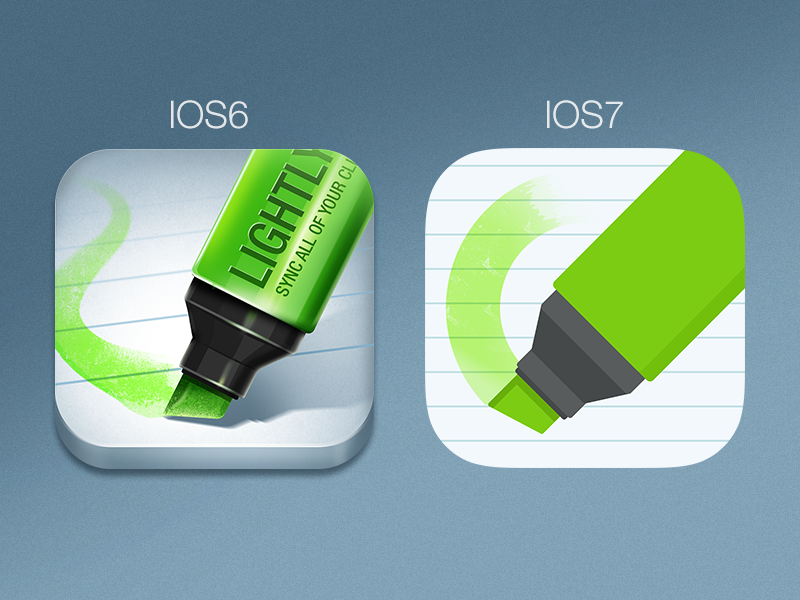 Lightly icon redesign for ios7 (in progress) ios7 flat icon gui apps icon