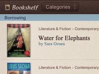 E-book app GUI