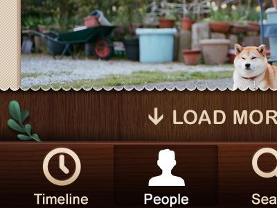 iPhone app - Scopy ios gui wood iphone