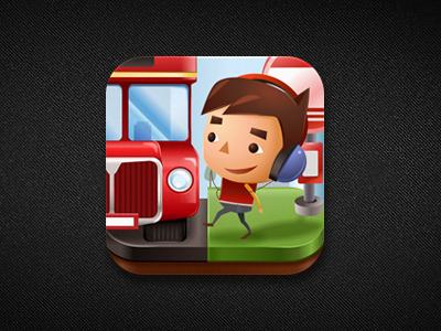 iphone app - Quru icon (design v1) ios apps icon bus illustration