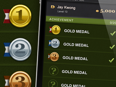 iphone app - Quru GUI - Profile page ios apps iphone gui icon medal