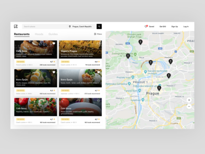 Restaurants Listing Page