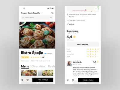 Restaurant Page Mobile