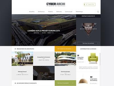 Architecture concept grid architecture webdesign ui concept