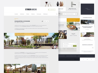 Architecture concept - section and home page