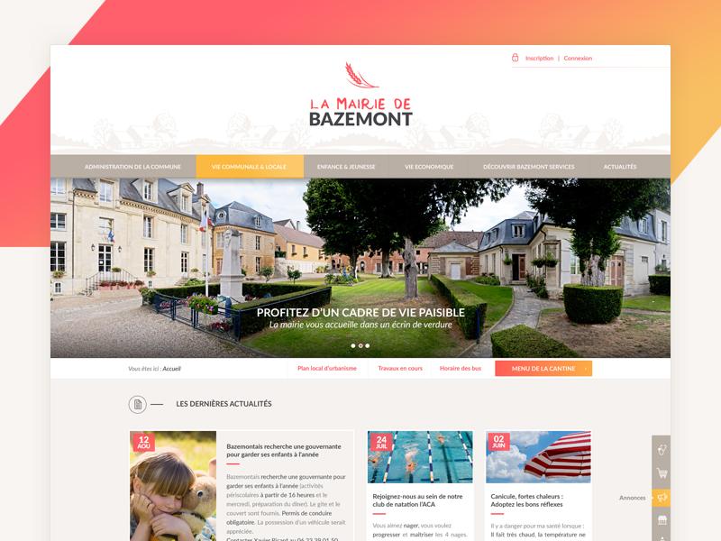 Bazemont bootstrap webdesign colors town ui