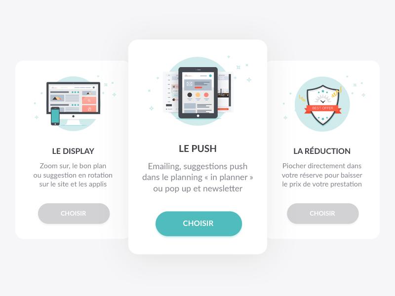 UI product cards ui illustration product communication card