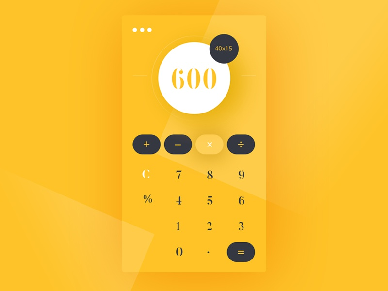 Daily UI #004 number yellow 004 daily ui calculate ui004yellownumber calculator004daily