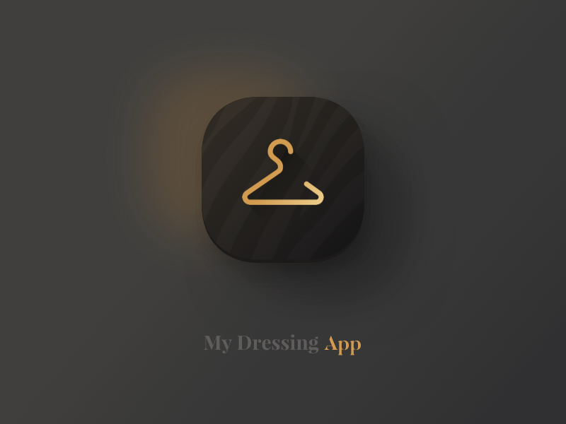 Daily UI #005 hanger zébra black clothing icon app icon dressing daily ui 005