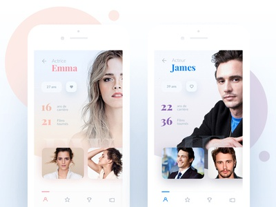 Daily UI #006 006 movie profil user user profil uiactor daily