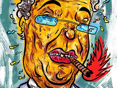 Kings Of Comedy #16 Ron White illustration ron white editorial portrait art