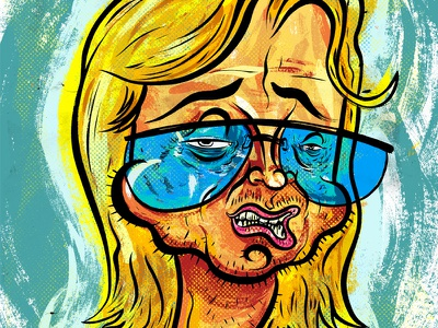 Kings of comedy #17 Mitch Hedberg illustration editorial portrait comedy