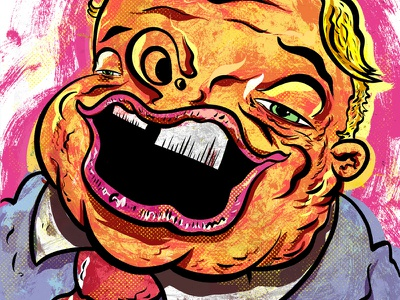 Kings of comedy #18 Louie Anderson editorial comedy illustration art portrait