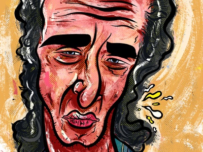 Kings of comedy #19 Steven Wright kings of comedy editorial portrait comedy art