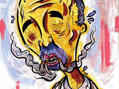 Kings of comedy #21 Doug Stanhope cartoon editorial. caricature illustration portrait