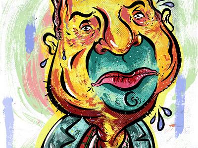 Kings of comedy #22 Patton Oswalt comedy art illustration editorial portrait