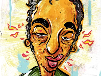 Kings of comedy #23 Lenny Bruce drawing illustration portrait comedy