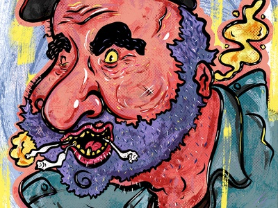 Kings of comedy #24 Dave Attell humor character illustration portrait comedy