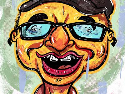 Kings of comedy #25 Greg Fitzsimmons cartoon character portrait art illustration